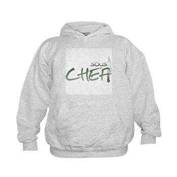 Green Sous Chef Kids Hoodie