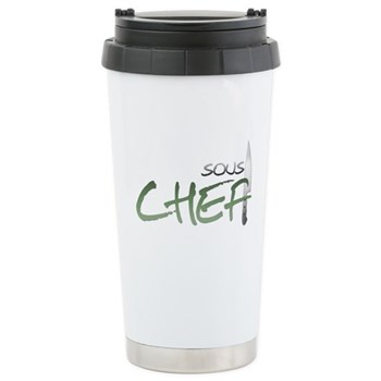 Green Sous Chef Stainless Steel Travel Mug