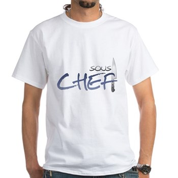 Blue Sous Chef White T-Shirt