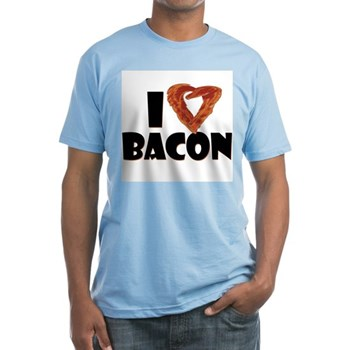 I Heart Bacon Fitted T-Shirt
