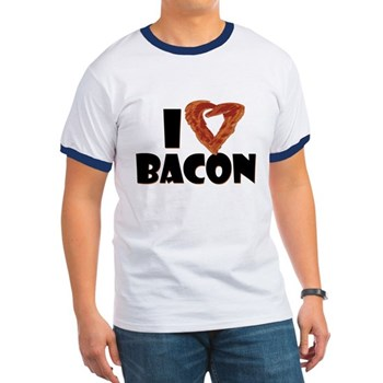 I Heart Bacon Ringer T