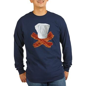 Bacon Chef Long Sleeve Dark T-Shirt