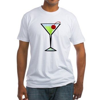 Green Apple Martini Fitted T-Shirt
