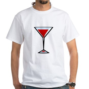 Vampire Martini White T-Shirt