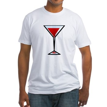 Vampire Martini Fitted T-Shirt