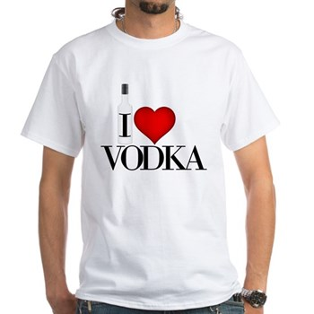 I Heart Vodka White T-Shirt