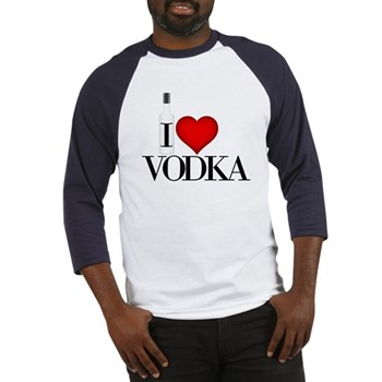 I Heart Vodka Baseball Jersey