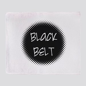 Martial Arts Black Belt Throw Blanket