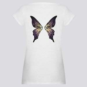 Sunset Butterfly Wings Maternity T-Shirt