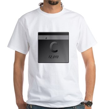 Carbon (C) White T-Shirt