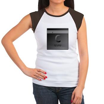 Carbon (C) Women's Cap Sleeve T-Shirt