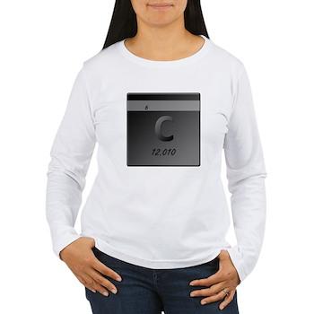 Carbon (C) Women's Long Sleeve T-Shirt