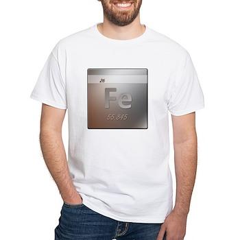 Iron (Fe) White T-Shirt
