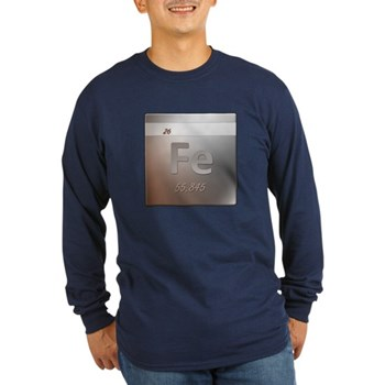 Iron (Fe) Long Sleeve Dark T-Shirt