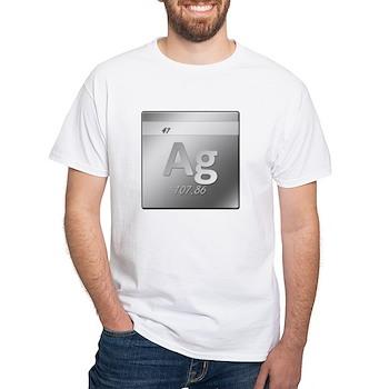 Silver (Ag) White T-Shirt