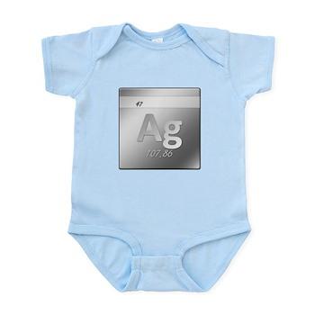 Silver (Ag) Infant Bodysuit