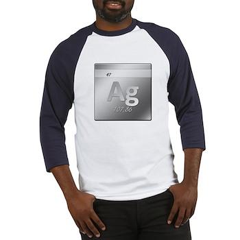 Silver (Ag) Baseball Jersey