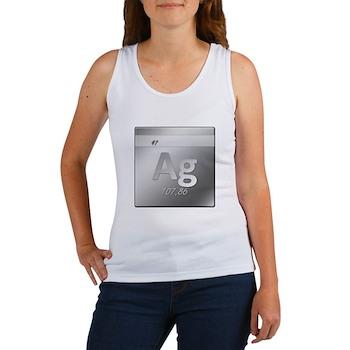 Silver (Ag) Women's Tank Top