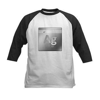 Silver (Ag) Kids Baseball Jersey