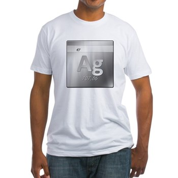 Silver (Ag) Fitted T-Shirt