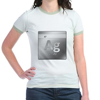 Silver (Ag) Jr. Ringer T-Shirt