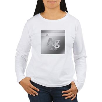 Silver (Ag) Women's Long Sleeve T-Shirt
