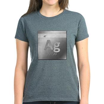 Silver (Ag) Women's Dark T-Shirt