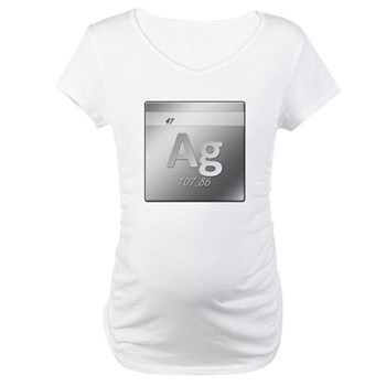 Silver (Ag) Maternity T-Shirt