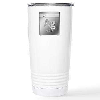 Silver (Ag) Stainless Steel Travel Mug