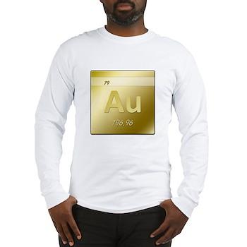 Gold (Au) Long Sleeve T-Shirt