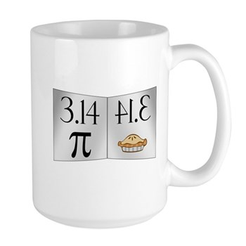 PI 3.14 Reflected as PIE Large Mug