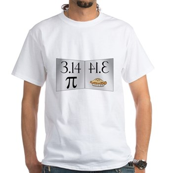 PI 3.14 Reflected as PIE White T-Shirt