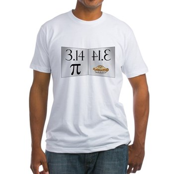 PI 3.14 Reflected as PIE Fitted T-Shirt