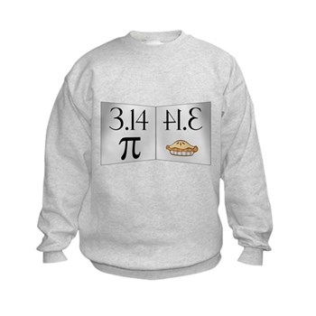 PI 3.14 Reflected as PIE Kids Sweatshirt