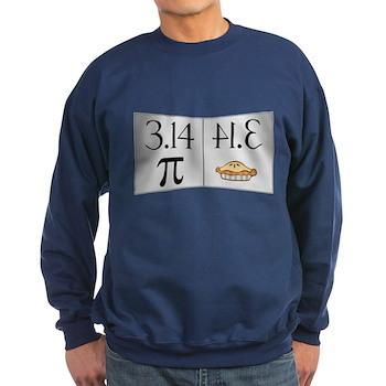 PI 3.14 Reflected as PIE Dark Sweatshirt