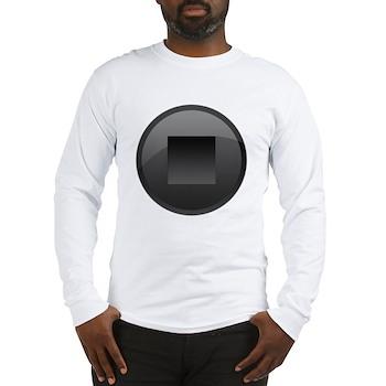 Stop Button Long Sleeve T-Shirt