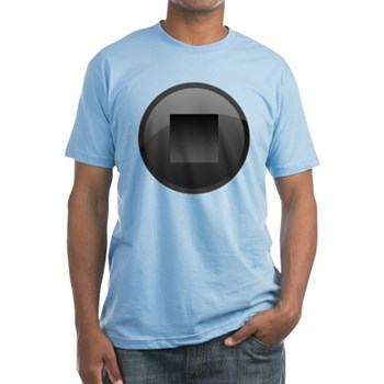 Stop Button Fitted T-Shirt