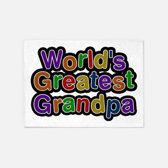 World's Greatest Grandpa 5'x7' Area Rug