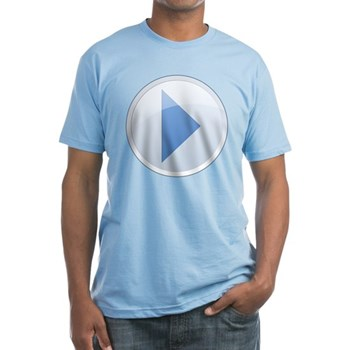 Play Button Fitted T-Shirt