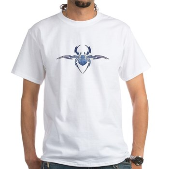 Tribal Spider Tattoo White T-Shirt