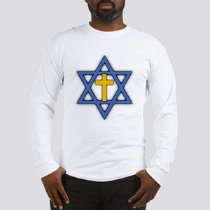 Star of David with Cross Long Sleeve T-Shirt