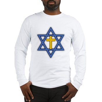 Star of David with Cross Long Sleeve T-Shirt
