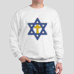 Star of David with Cross Sweatshirt