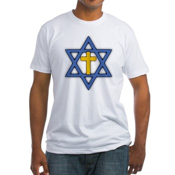 Star of David with Cross Fitted T-Shirt