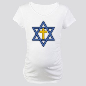 Star of David with Cross Maternity T-Shirt