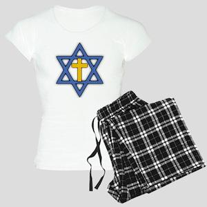 Star of David with Cross Women's Light Pajamas