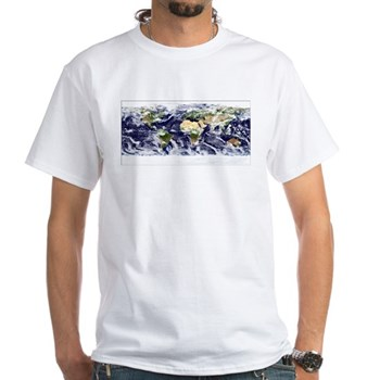 Visible Earth from Space White T-Shirt