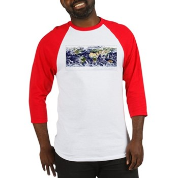 Visible Earth from Space Baseball Jersey