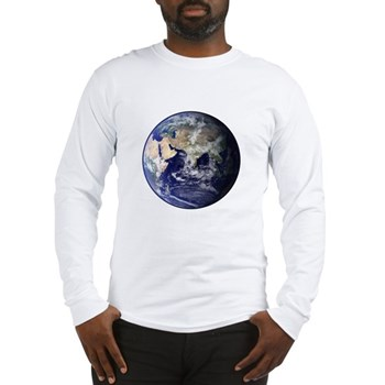 Eastern Earth from Space Long Sleeve T-Shirt