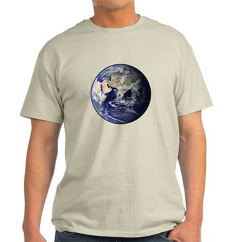 Eastern Earth from Space Light T-Shirt